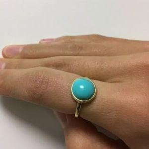 Jewelry - 18k Boho Turquoise Round Stone Ring